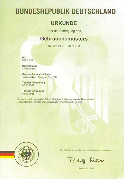 艾尔斯派德国专利证书